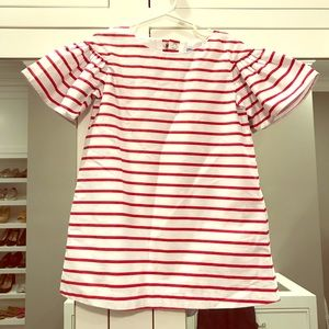 NWT Jacadi Red and White Striped Dress
